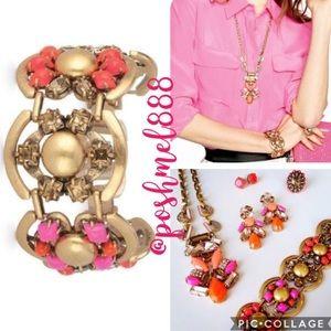 :: S&D🦊💕Geo POP Becca Bracelet Pink/Orange